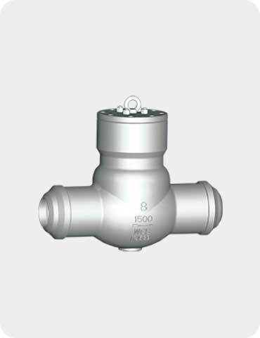 pressure sealed check valve